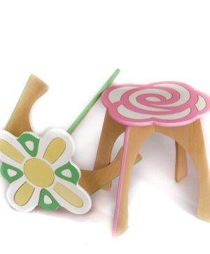 Wooden chair - Flower IDEA1745
