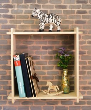 Wooden shelf square, set of 2pcs - IDEA1752