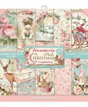 "Paper pad 12""x12""cm - Christmas Pink SBBL46"