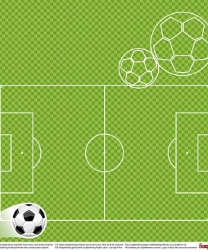 "Double-sided Paper 12""x12"" - Football Star, On the Pitch  (1 sheet) SCB220611301"