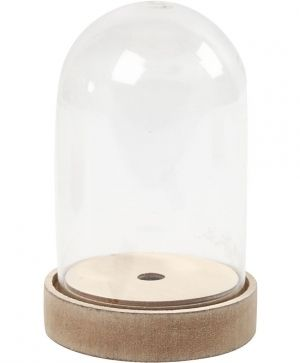 Bell on a Wooden Stand, H: 12,5 cm, D: 8 cm, 1pcs - C52161