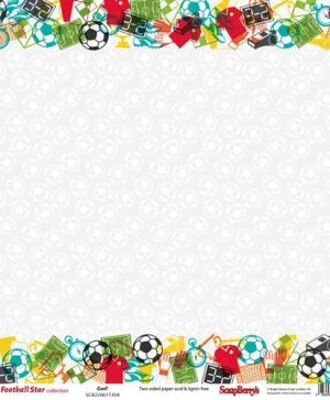 Double-sided Paper 12x12 - Football Star, Goal SCB220611304
