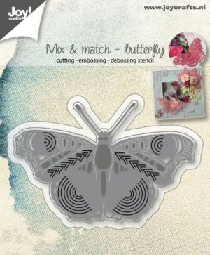 Cutting, embossing and debossing stencil - Mix and Match Butterfly 6002-1068