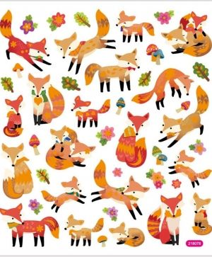 Stickers, foxes  43pc. - C29129