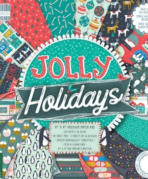 First edition Jolly Holidays 8x8 Paper Pad - FEPAD183X18