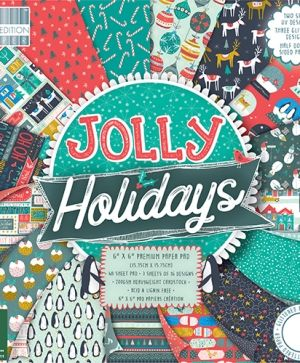 First edition Jolly Holidays 12x12 Paper Pad - FEPAD182X18