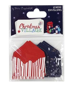 Helz Cuppleditch Mini Envelopes (10pcs) - Christmas Village  HZTOP005X18