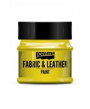 Fabric and leather paint 50ml - yellow P34800