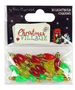 Helz Cuppleditch Set of embellishments (20pcs) - Lightbulb Charms HZTOP013X18