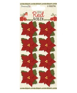 Dovecraft Paper Blossoms (8pcs) - Little Red Robin DCTOP101X18