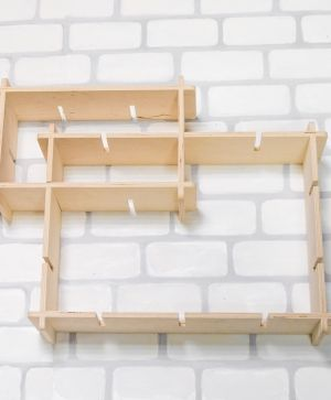 Wooden shelf rectangular, set of 2pcs - IDEA1755