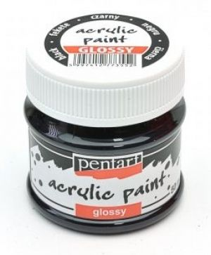 Acrylic paint glossy 50 ml - black P1155