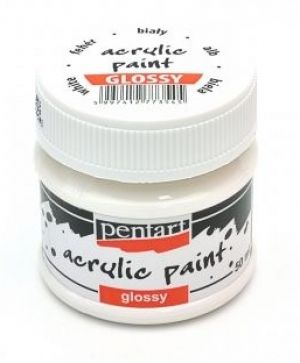 Acrylic paint glossy 50 ml - white P1169