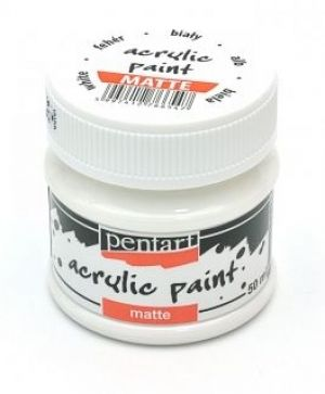 Acrylic paint matte 50 ml - white P1017