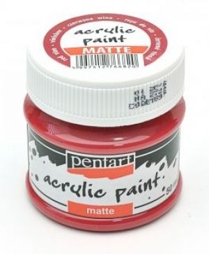 Acrylic paint matte 50 ml - red wine P1897