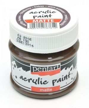 Acrylic paint matte 50 ml - earh brown P13114