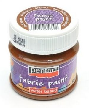 Fabric paint 50 ml - dark brown P3481