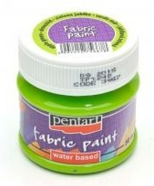 Fabric paint  50ml - apple green P3467