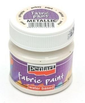 Fabric paint metallic 50 ml - pearl white P6270