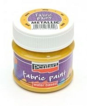 Fabric paint metallic 50 ml -  metallic gold P6256