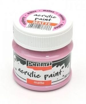 Acrylic paint matte 50 ml - raspberry P14111