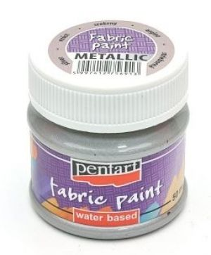 Fabric paint metallic 50 ml - silver P6264