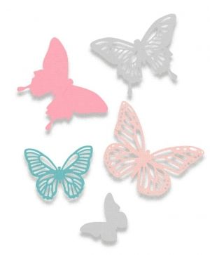 Sizzix Thinlits Die Set 5PK - Butterflies 662607