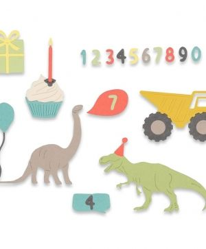 Sizzix Thinlits Die Set 15PK - Birthday Boy 662590