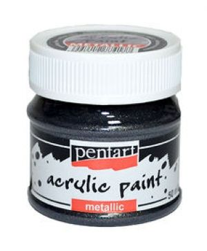 Acrylic paint metallic 50 ml -sparkling silver P3505