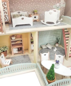 Wooden dollhouse - IDEA1756