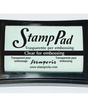 Embossing ink pad 7,5x7,5cm - transparent WKP20G
