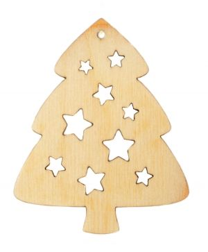 Wooden Christmas figurine - Christmas tree with stars IDEA1760