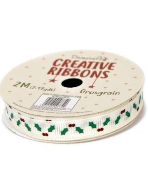 Dovecraft Christmas Ribbon - Traditional DCRBB023X18-1