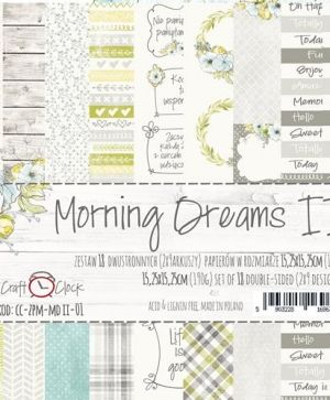 "Double-sided Paper 6""x6"", 18 sheets - Morning Dreams II CC-ZPM-MDII-01"