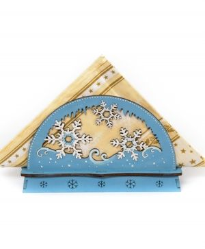Wooden Christmas napkin holder - Snowflakes IDEA1768
