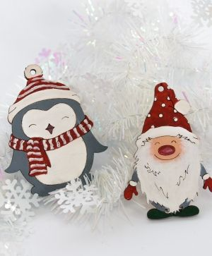 Wooden Christmas figurine - Gnome IDEA1758