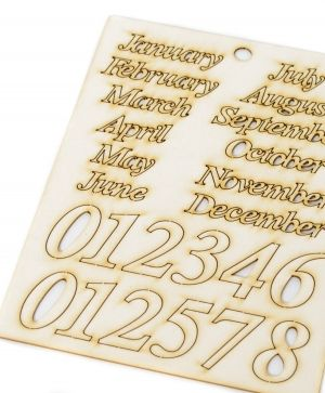 Chipboard elements - For perpetual calendar IDEA1781