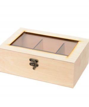 Wooden tea box 23x15x8cm - IDEA0589