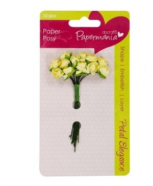 Docrafts Paper Blossoms (12pcs) Lemon Rose - PMA-368300