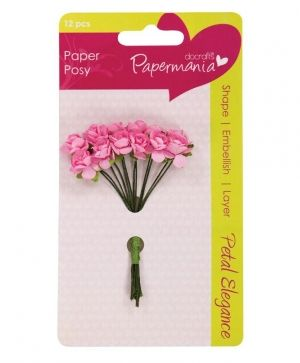 Docrafts Paper Blossoms (12pcs) Pale Pink Rose PMA-368303