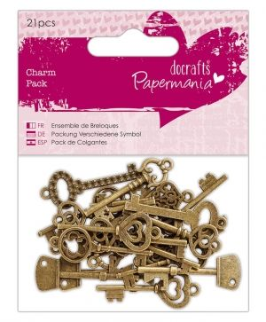 Docrafts Set of embellishments (21pcs) - Papermania - Vintage Keys PMA-356015