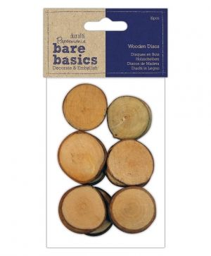 Wooden discs (16pcs) - Bare Basics PMA-174713