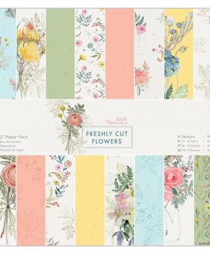 Paper pad 12x12in, 32 sheets - Freshly Cut Flowers PMA-160329