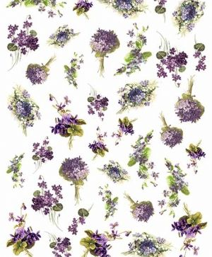 Decoupage Rice Paper A4 - flowers and violets - ITD-R1449