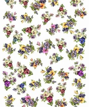 Decoupage Rice Paper A4 - colorful flowers ITD-R1443