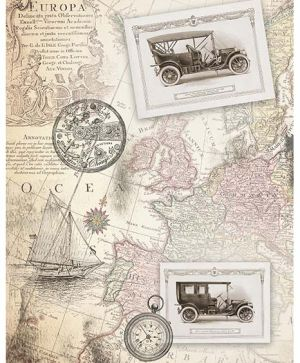 Decoupage Rice Paper A4 - old map ITD-R1139