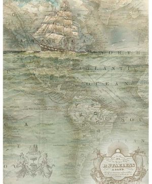 Decoupage Rice Paper A4 - sailing ship ITD-R1138