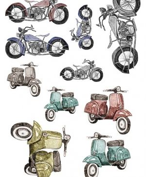 Decoupage Rice Paper A4 - scooters ITD-R887