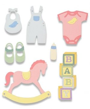 Sizzix Thinlits Die Set - New Baby #2 663365