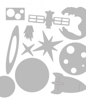 Sizzix Thinlits Die Set - Space 663414